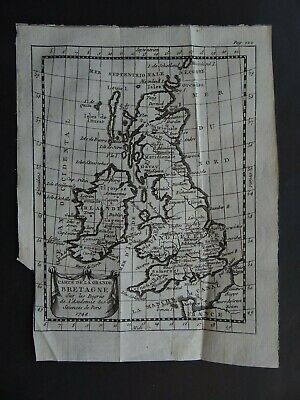1758 Buffier Atlas map  British Isles - Grande Bretagne - England  Ireland  UK