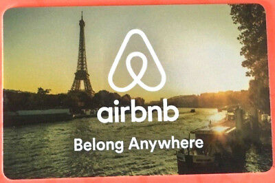Air bnb Gift Card NO VALUE -0- balance rechargeable