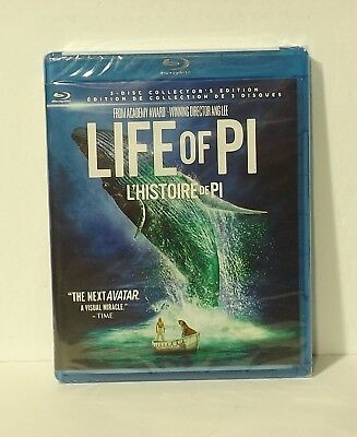 Life of Pi 3D (Blu-ray/DVD, 2016, 3-Disc Set, Canadian 3D NEW AUTHENTIC REGION A