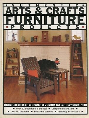 Authentic Arts and Crafts Furniture Projects Popular Woodworking Book