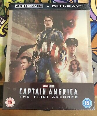Captain America First Avenger (4K/Blu-ray) Zavvi Steelbook W/ Protective Cover