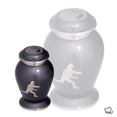 Small/Keepsake 4 Cubic Inch Brass Rugby Funeral Cremation Urn for Ashes