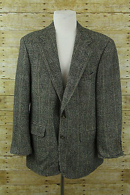 Brooks Brothers Black White Red Camelhair Blazer Sz 41R Sport Coat Suit Jacket