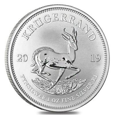 1 oz 2019 Silver Krugerrand Coin - .999 Fine Ag - South African Mint