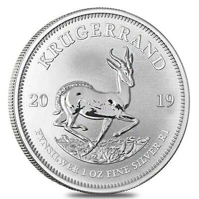 5 x 1 oz 2019 Silver Krugerrand Coin - .999 Fine Ag - South African Mint