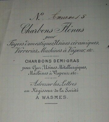Charbonnages HORNU WASMES  documents