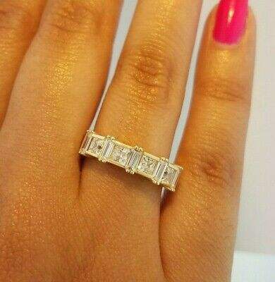 1 CT Princess Cut Diamond Engagement Wedding Ring 14k Solid Yellow Gold