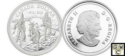 2012 Proof Silver $ '200th Anniversary of The War of 1812' .9999 Fine(12933)OOAK