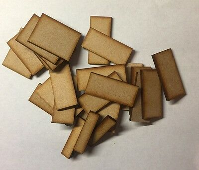 MDF Wooden Miniature Wargaming Base 18 x 30mm x 30mm Laser Cut 3mm Thick