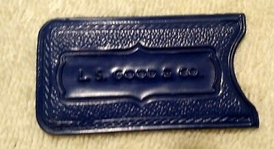 Vintage LS Good & Co Charga-Plate Vinyl Cover Credit Charge Card