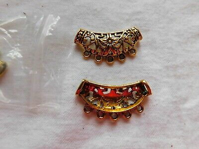 Antique gold filigree bead hanger/connector
