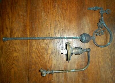 Antique Brass Gas Ceiling Light & Swing Arm Gas Wall Sconce Light Fixtures