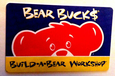 Build A Bear Workshop Collectible Gift Card --0--Value Rechargeable