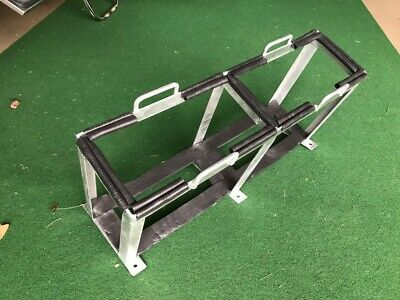 DUAL 2x 20L JERRY CAN HOLDER GALVANISED BOLT-ON OFFROAD CAMPER TRAILER FUEL 4X4