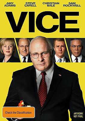 VICE (2018): Biography, Comedy, Drama, Dick Cheney, George Bush  NEW Au Rg4 DVD