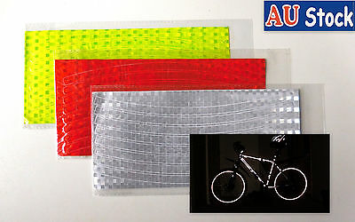 16 Pcs Bike Wheel Reflectors Bicycle Reflective Tape Decals  Rim PVC Stickers
