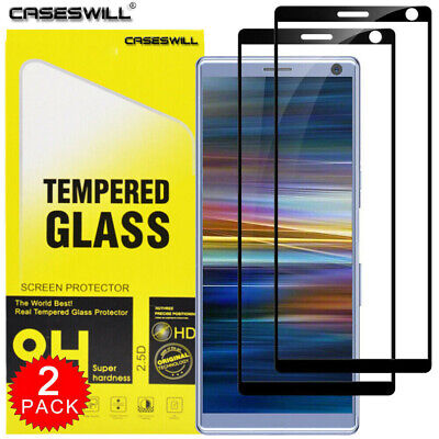 For Sony Xperia 1 / 10 / 10 Plus Full Cover Tempered Glass Screen Protector X2