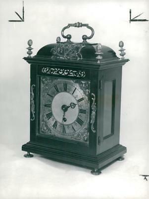 a small ebony bracket clock by joseph knibb - Vintage photo