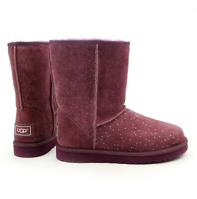 2a7604696ad UGG CLASSIC SHORT Serape Bling Boots Sand Sheepskin Suede Size 8 Us ...