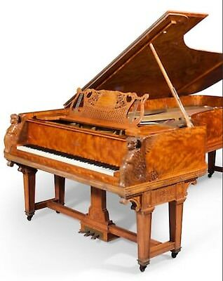 One Of A Kind & Very Famous Steinway & Sons Custom Art Case Concert Grand Piano