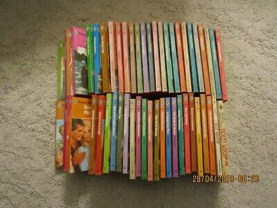 Lot 4 of 48 Vintage Harlequin Romance 2 Presents Books All Red Edges 1970's