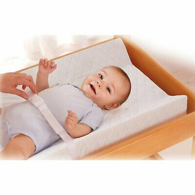 Summer Infant Contoured Changing Pad Baby Cleaning Comfortable Safety Belt White