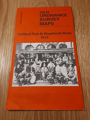 Old Ordnance Survey Map - Holland Park & Shepherds Bush 1913 - Alan Godfrey Map