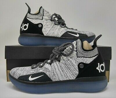 173abc94e067 Nike Zoom KD11 Black White Racer Blue Kevin Durant Basketball Shoes AO2604- 006