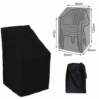 Waterproof Outdoor Stacking Chair Cover Garden Parkland Patio Chairs Furniture -