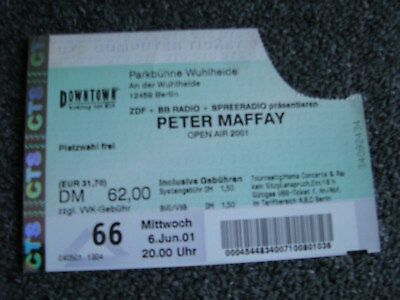 Peter Maffay-Altes Ticket-06.06.2001-Berlin-Gebrauchte Konzertkarte
