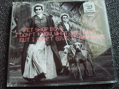 Pet Shop Boys-I dont know what you want...Maxi CD