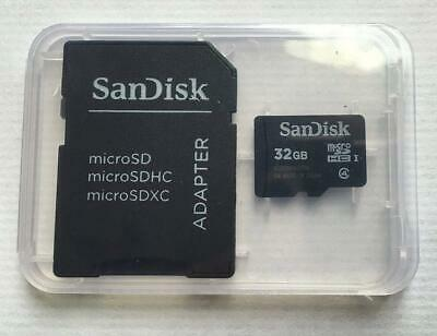SanDisk 32GB MicroSDHC High Speed Class 4 Card with MicroSD to SD Adapter