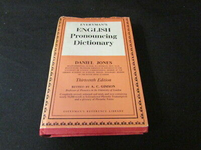 (Good)  EVERYMAN'S ENGLISH PRONOUNCING DICTIONARY; CONTAINING OVER 58,000 WORDS