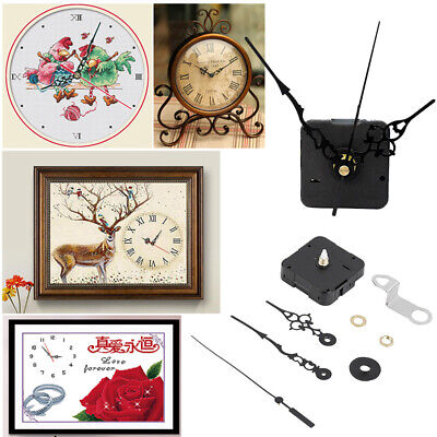 New Black Wall clock Quartz Movement Mechanism Hand diy Replacement Part Set Kit