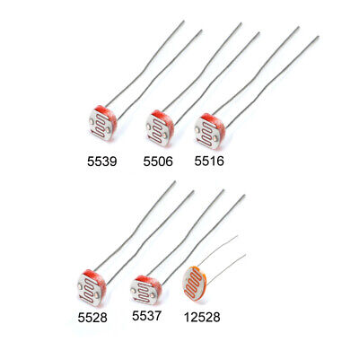 5506 5516 5528 5537 5539 12528 Photoresistor Light-Dependent Resistor 6 Types