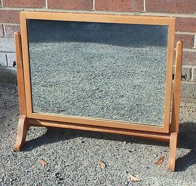 Art Deco Arts & Crafts Cotswold School military solid oak dressing table mirror