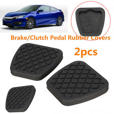 2*Brake Clutch Pedal Pad Rubber Cover Kit For Honda Civic Accord CR-V Acura New