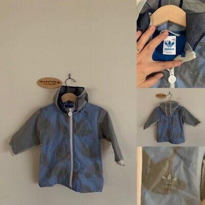 Sz 6m (Very Generous, Easily Fit A 1) Adidas Lined Rain Jacket