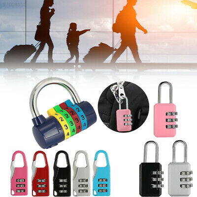 4B4E 3 Digit Password Lock Resettable Travel Portable Coded Padlock