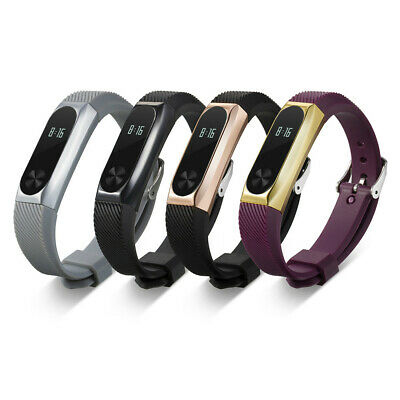 Replacement Luxury Silica Gel  Watch Strap Band For Xiaomi Mi Band 2 Bracelet
