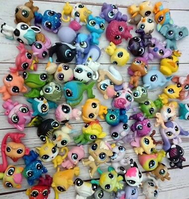 10pcs Random Littlest pet shop Mini-scale Cat Dog Animal Action figures