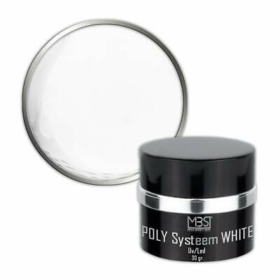 POLY Systeem White UV/LED Gel (30 gram)
