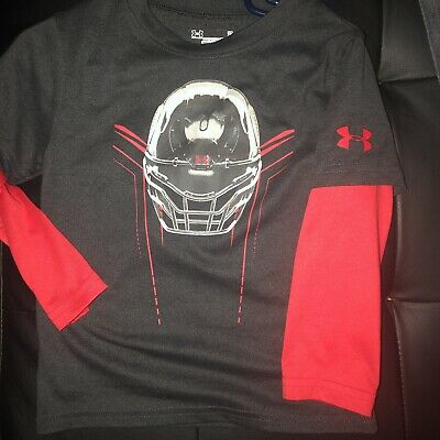 New Boys Infant Toddler Long Sleeve Under Armour Tee Size 2T