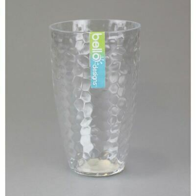 Bello Dimple Plastic Tall Glass Tumbler BBQ Party Glasses Picnic Drink Garden