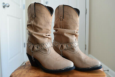 b7d8bc605ff Shyanne Womens Slouchy Tan Leather Western Cowboy Boots Shoes SH1131A size  7 M