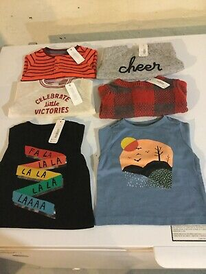 Gymboree Boys 0-3 Months Long Sleeve T-shirts Tops Shirts - NEW With Tags