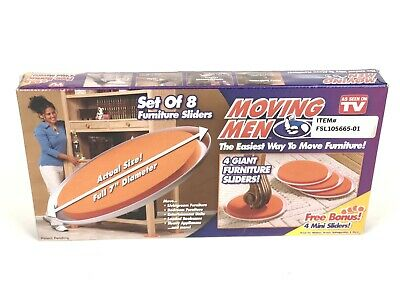 Moving Men Furniture Sliders Set Of 8 As Seen On TV New, Sealed In Box