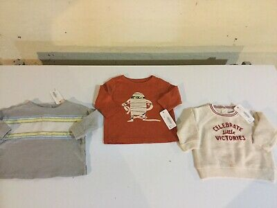 Gymboree Boys Size 0-3 Months Long Sleeve T-shirts & Sweatshirts - NEW With Tags