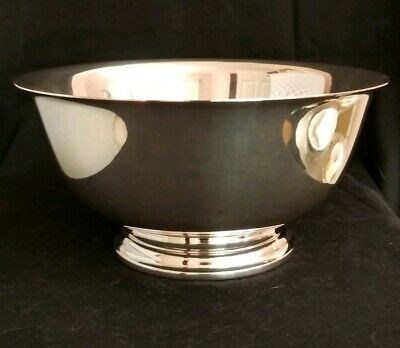 """Inter. Silver Co. Paul Revere Reproduction/9"""" Sterling Silver Bowl (646 grams)"""
