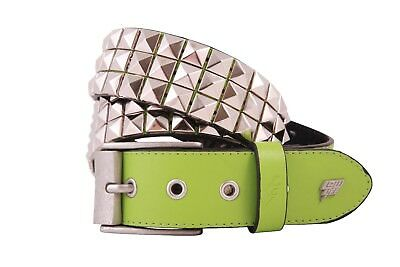 1bfe53ec59 LOWLIFE OF LONDON Triples White Studded Belt New Official Punk Metal ...